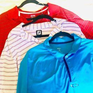 Bundle of Golf Shirts FootJoy Adidas Oakley